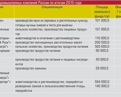 России по итогам 2015 года